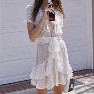 For Love & Lemons Tarta Star Mini Ruffle Dress